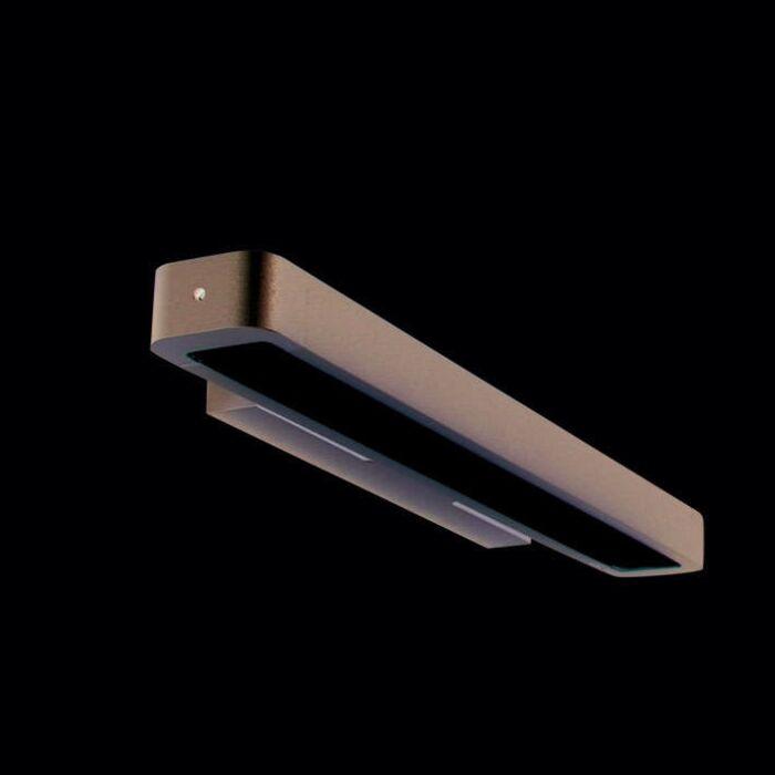 Nástěnná-lampa-Tube-U-14W-stříbrná