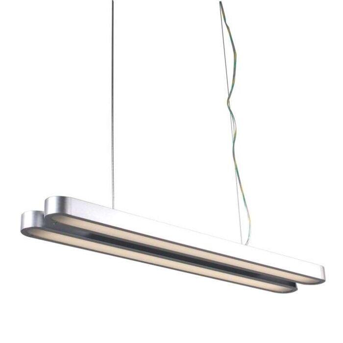 Závěsná-lampa-Tube-Double-21W-stříbrná