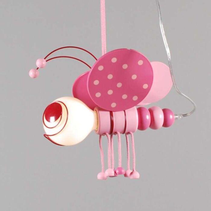 Závěsná-lampa-Kids-Bee-Pink