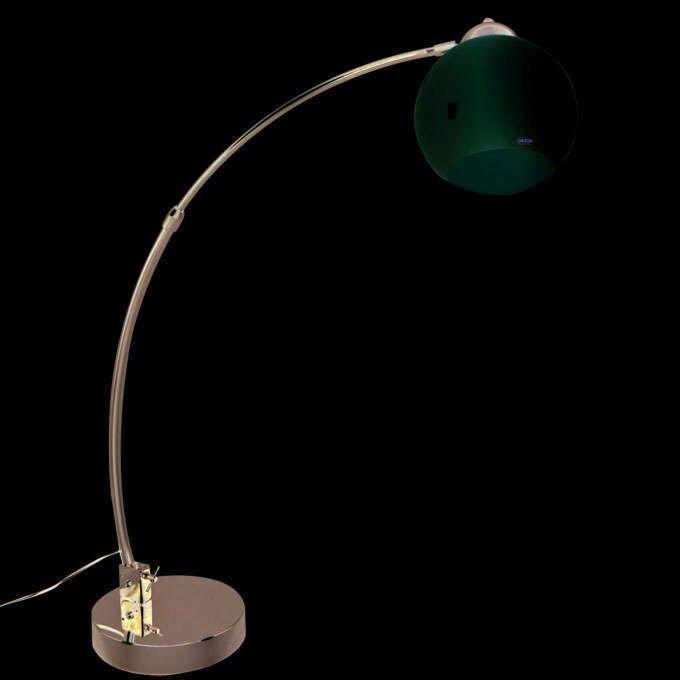 Oblouková-lampa-chrom-s-bílou