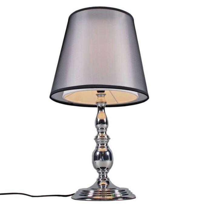 Stolní-lampa-Mythos-chrom-se-stínidlem