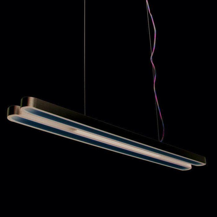 Závěsná-lampa-Tube-U-Double-28W-stříbrná