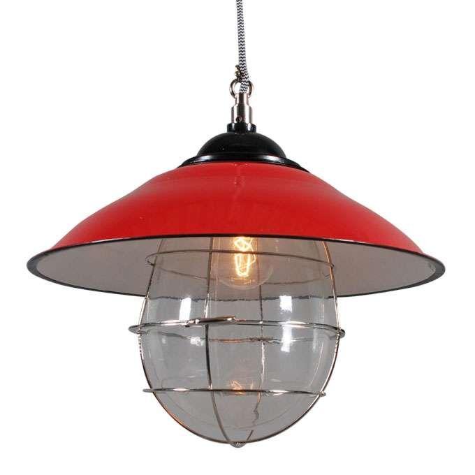Závěsná-lampa-Skipper-červená