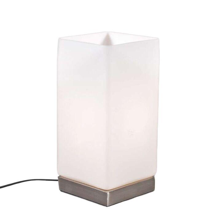 Stolní-lampa-Baterie-ocel-s-bílým-sklem