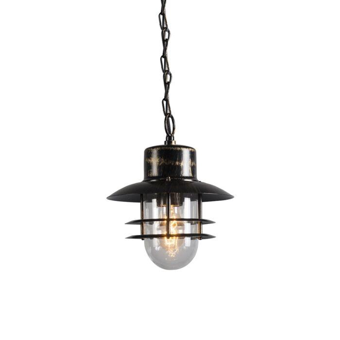 Retro-závěsná-lampa-bronzová---Shell