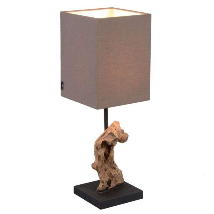 Stolní-lampa-Vamida-s-hnědým-odstínem