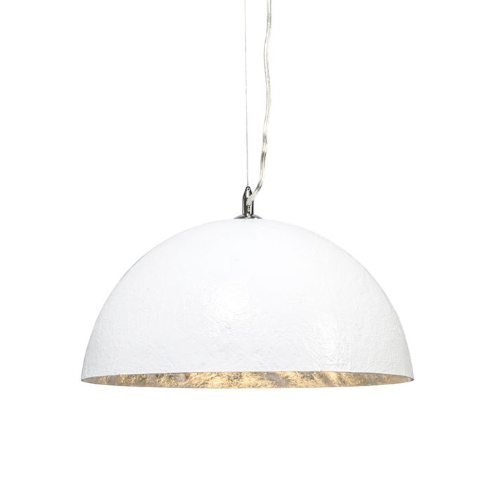Závěsná-lampa-Magna-40-bílá---stříbrná