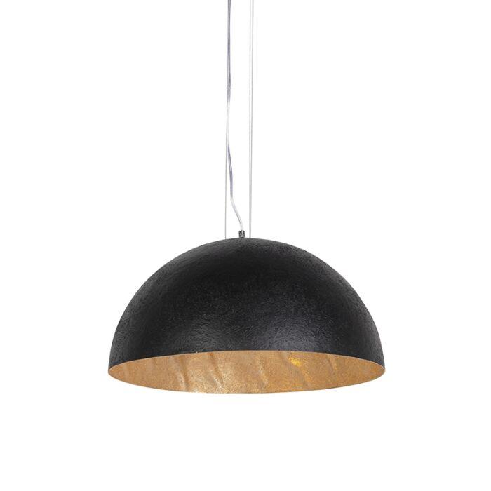 Průmyslová-závěsná-lampa-černá-se-zlatem-50-cm---Magna