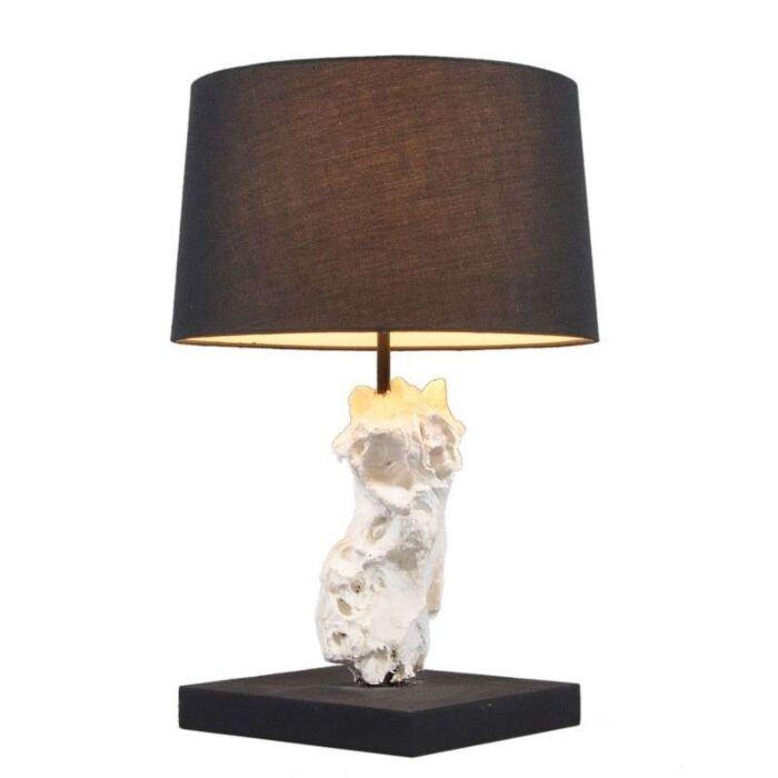 Stolní-lampa-Kanya-bílá-s-černým-odstínem