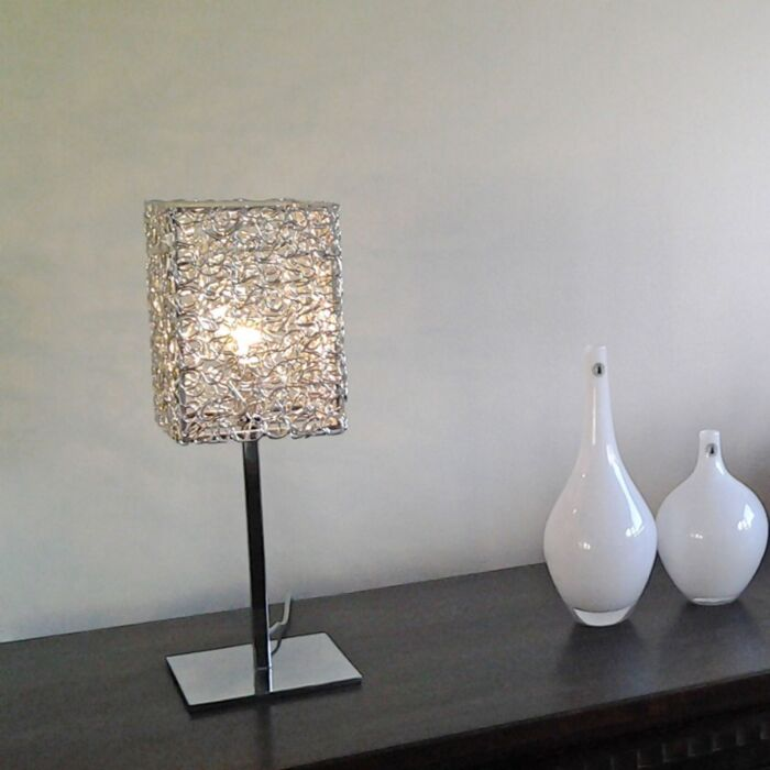 Stolní-lampa-Draht-Square-L-hliník