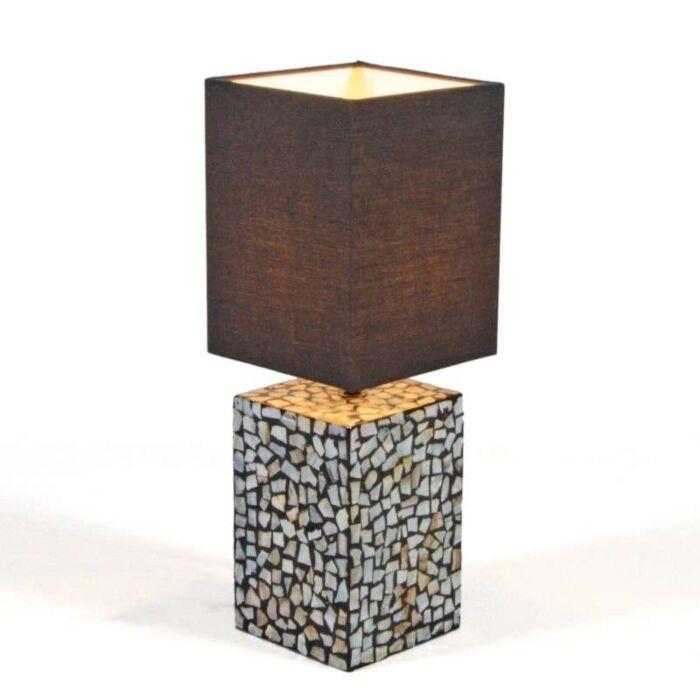 Stolní-lampa-Pearl-s-černým-odstínem