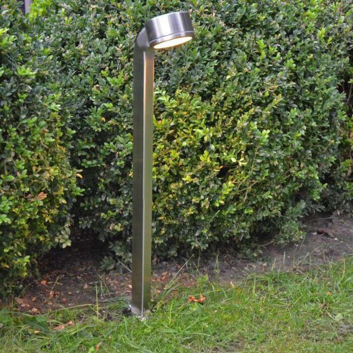 Venkovní-lampa-Hadí-tyč-68cm-nerezová-ocel