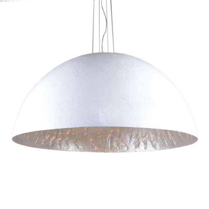 Závěsná-lampa-Magna-120-bílo---stříbrná
