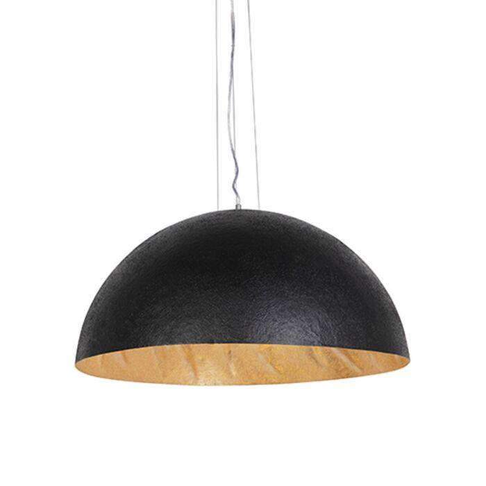 Průmyslová-závěsná-lampa-černá-se-zlatem-70-cm---Magna