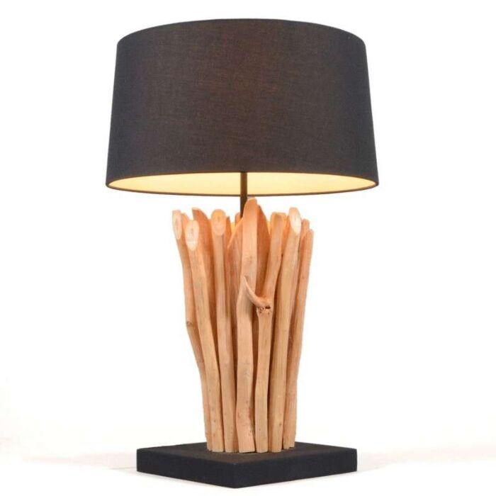 Stolní-lampa-Phatom-přírodní-s-černým-odstínem
