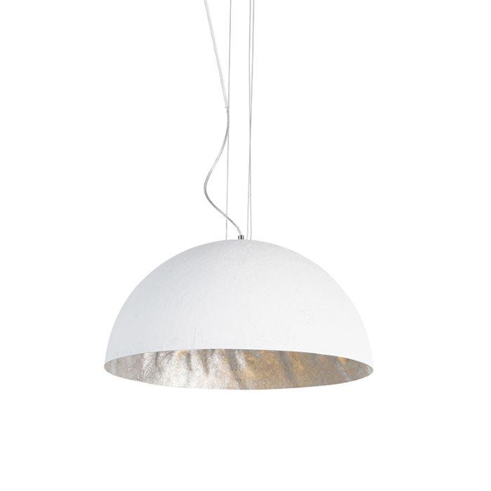 Moderní-závěsná-lampa-bílá-50-cm---Magna