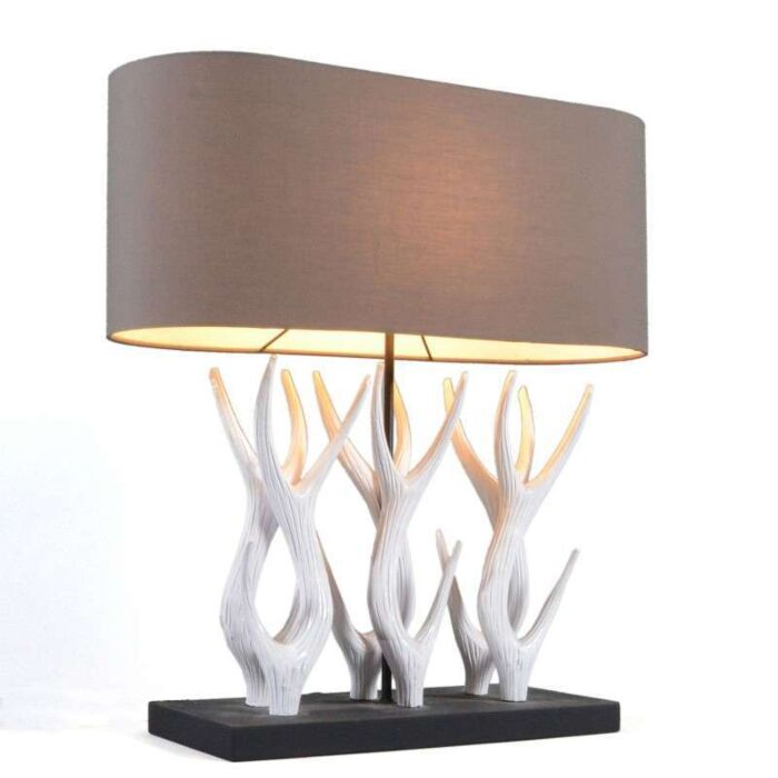Stolní-lampa-Yindee-Recta-s-hnědým-odstínem