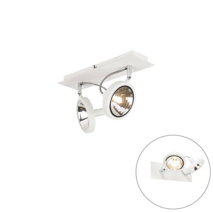 Designový-bodový-bílý,-2-světla-nastavitelný---Nox