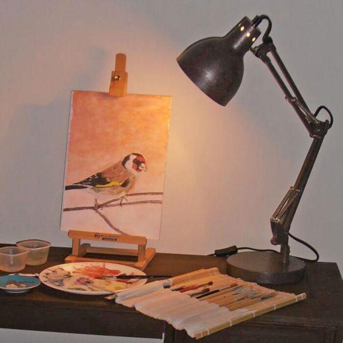 Stolní-lampa-Mesa-starožitná