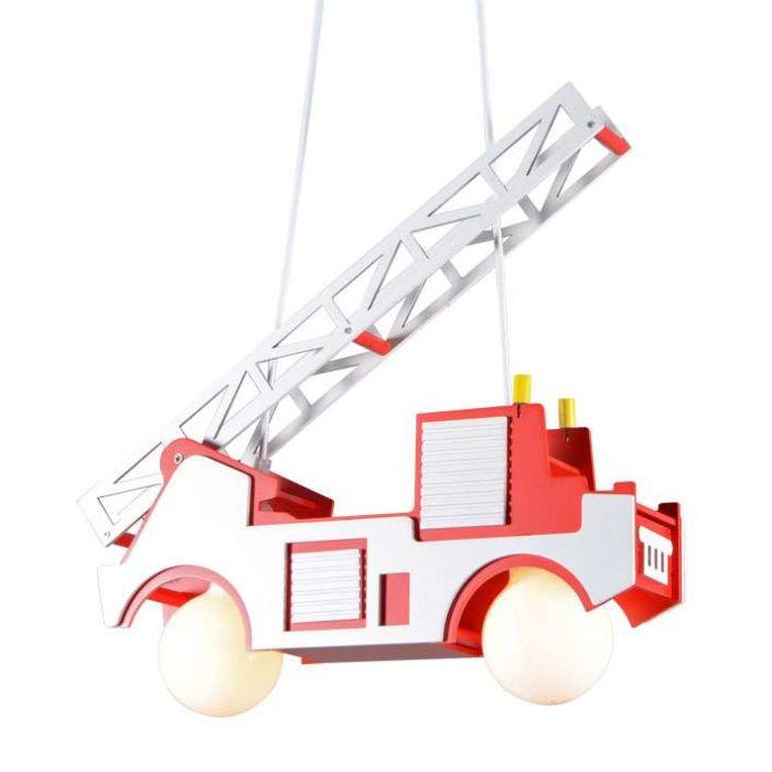 Závěsná-lampa-Dětský-hasičský-vůz