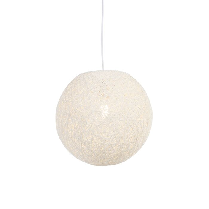 Venkovská-závěsná-lampa-bílá-35-cm---Corda