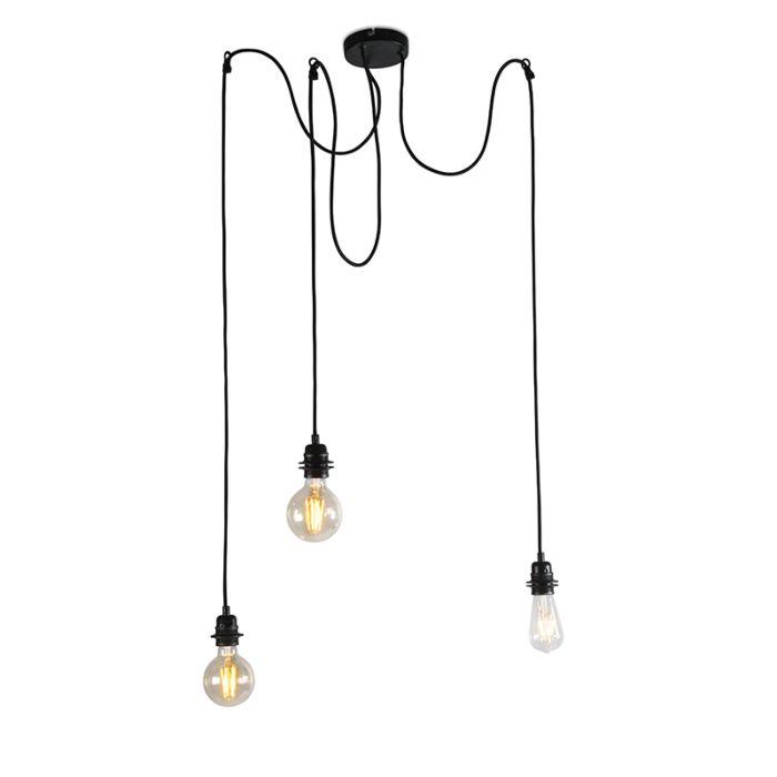 Průmyslová-závěsná-lampa-černá---Cava-3