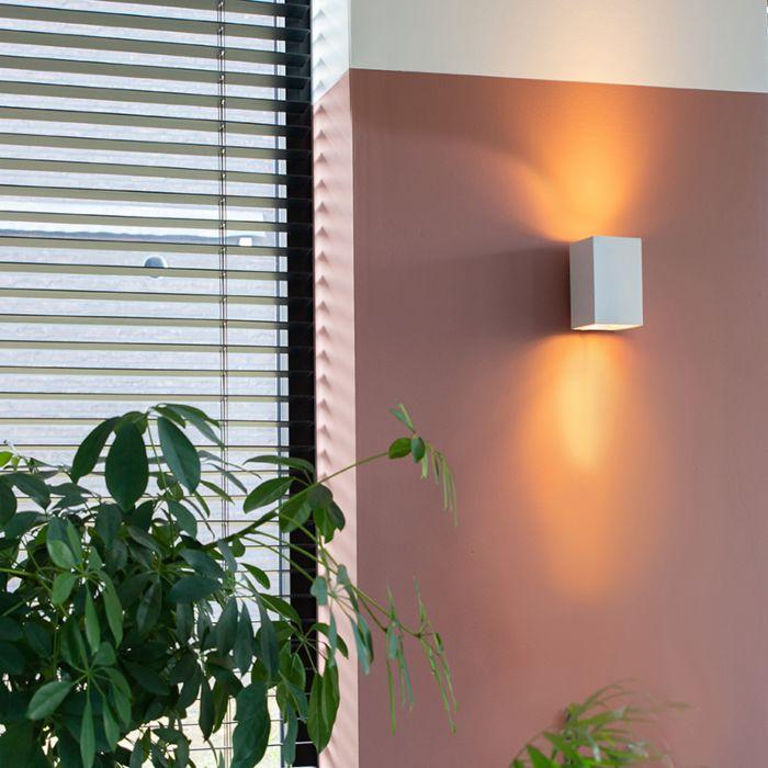 Moderní-nástěnná-lampa-čtvercová-bílá---Sandy