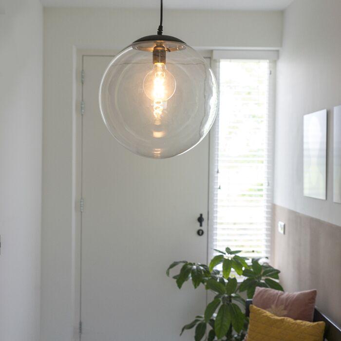 Moderní-závěsná-lampa-transparentní-35-cm---Pallon