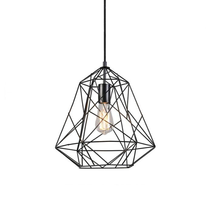 Průmyslová-závěsná-lampa-černá---Framework-Basic
