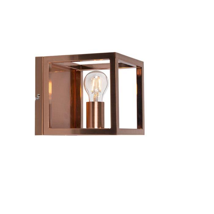 Nástěnná-lampa-Cage-1-měděná-lampa