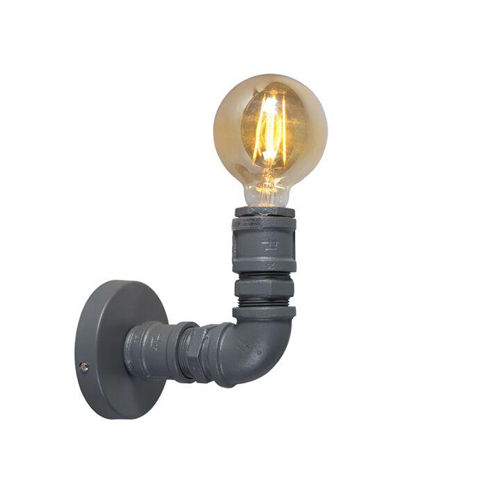 Průmyslové-nástěnné-svítidlo-tmavě-šedé---instalatér-1
