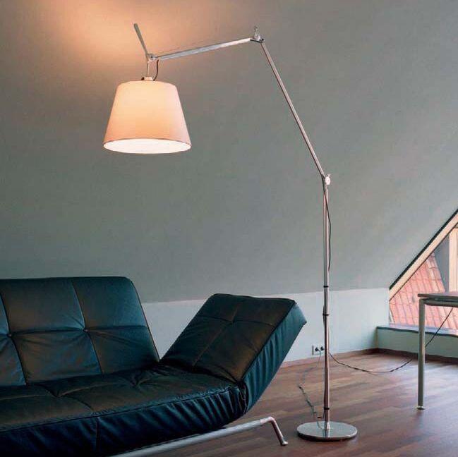 Stojací-lampa-hliníková-se-stínidlem---Artemide-Tolomeo-Mega-Terra