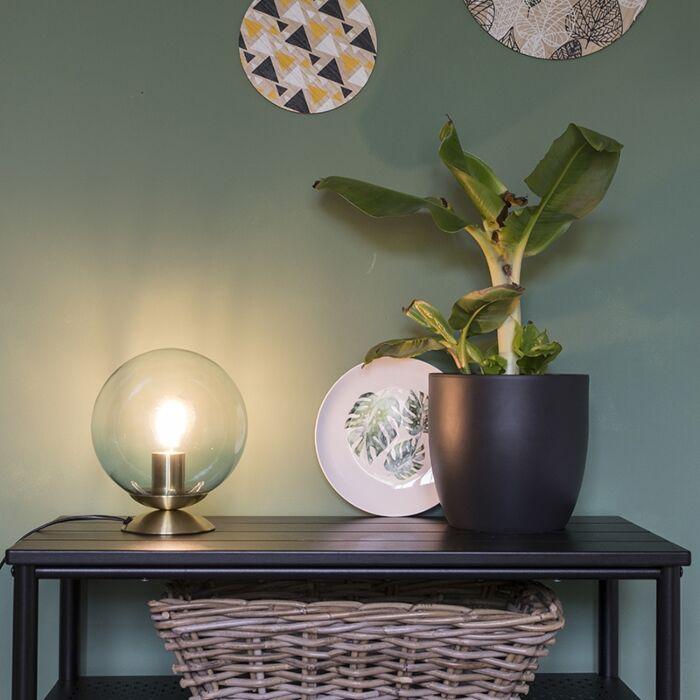 Stolní-lampa-ve-stylu-art-deco-mosaz-s-modrým-sklem---Pallon