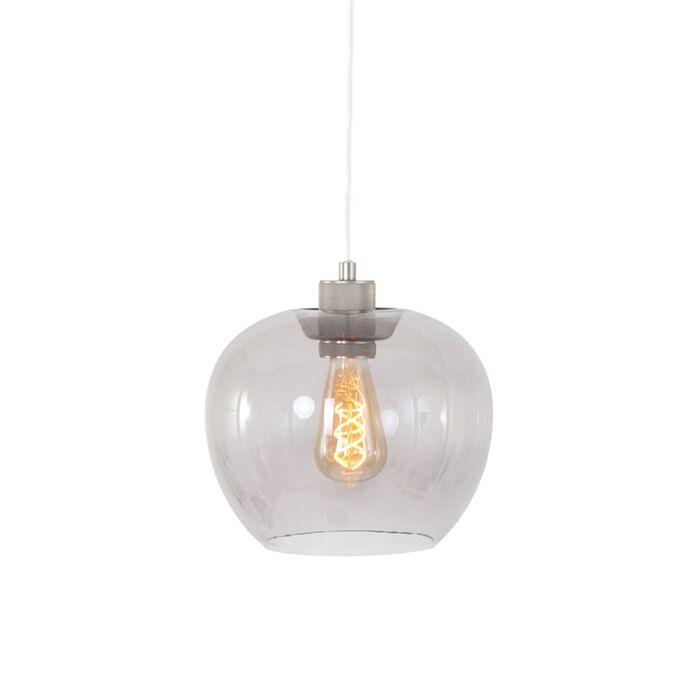 Moderní-závěsná-lampa-z-oceli-se-sklem---Lori