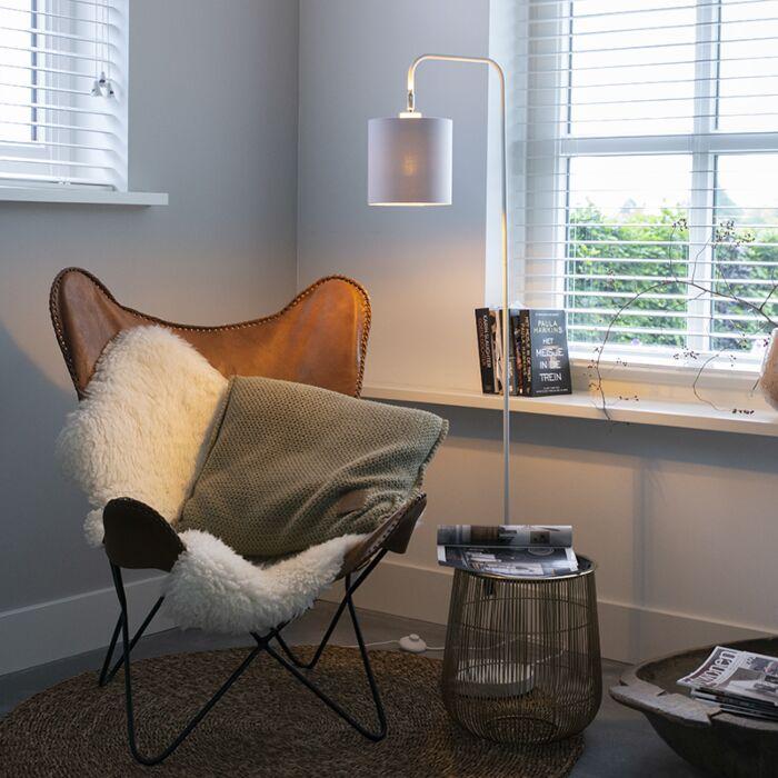 Moderní-stojací-lampa-bílá---Lofty