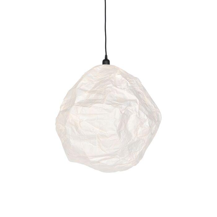Skandinávská-papírová-závěsná-lampa-bílá---Pepa-Hive