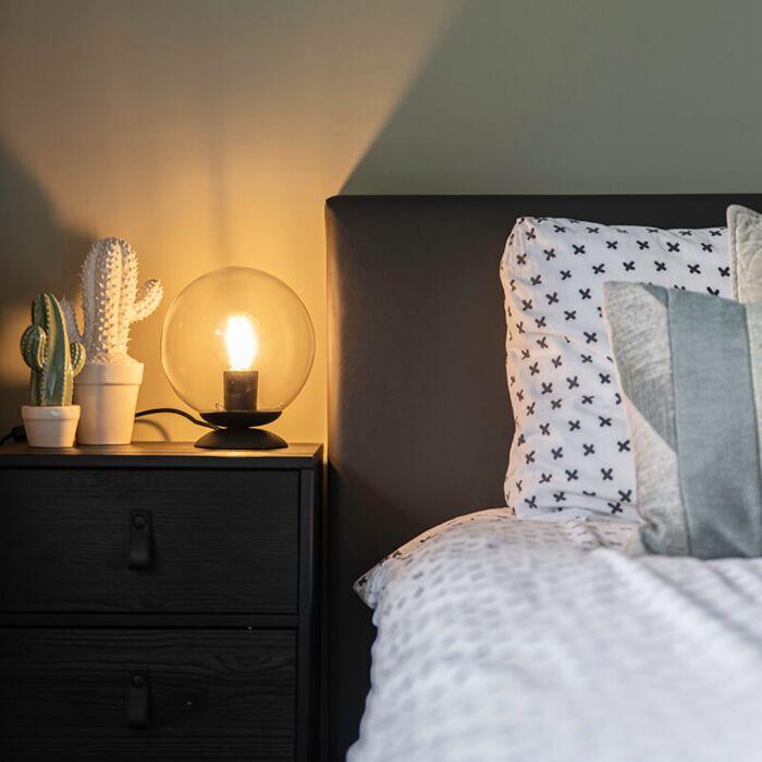 Stolní-lampa-ve-stylu-art-deco-černá---Pallon