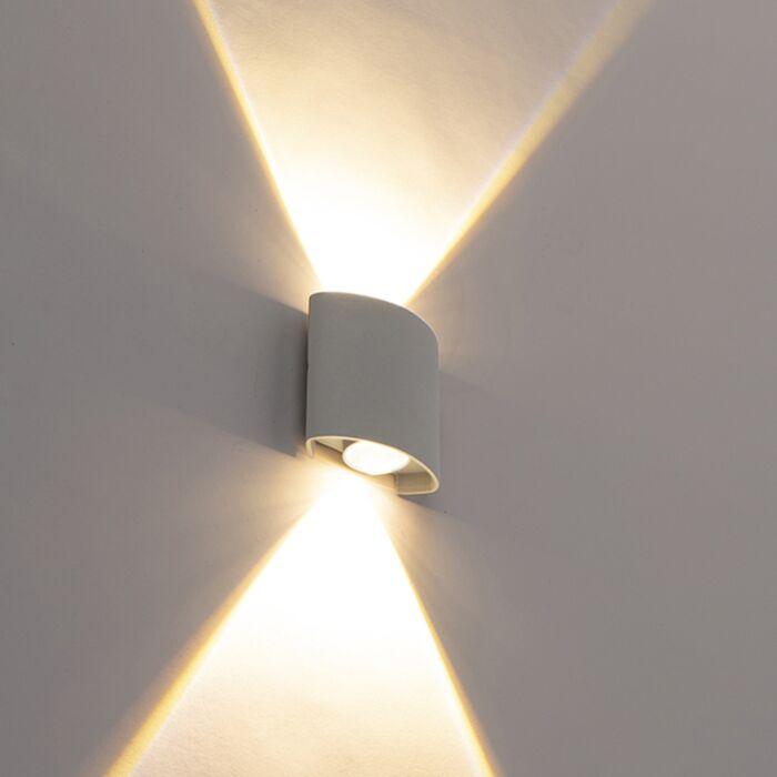 Designové-venkovní-nástěnné-svítidlo-stříbrné-včetně-LED-2-světel---Silly