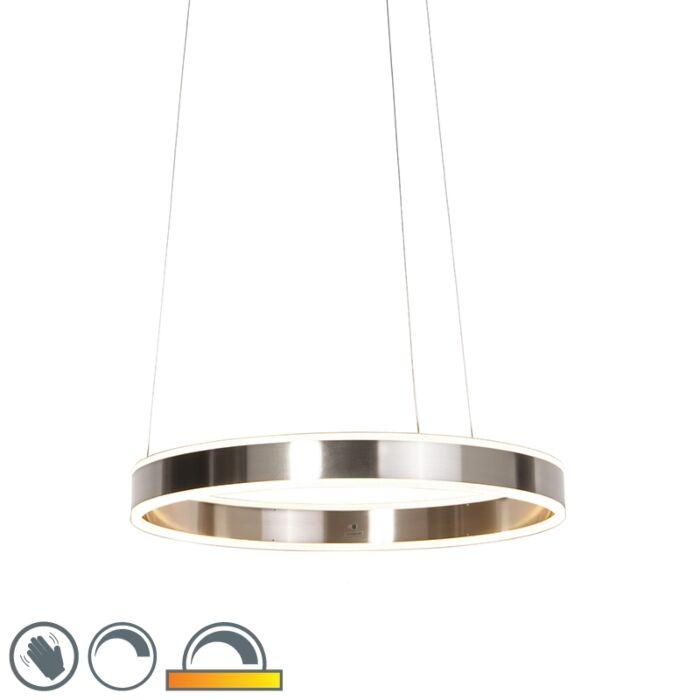 Moderní-závěsná-lampa-z-oceli-vč.-LED-60-cm-stmívatelné-na-zahřátí---Ollie