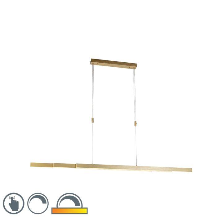 Nastavitelná-mosazná-závěsná-lampa-ztlumená-na-teplo-včetně-LED---Juliet