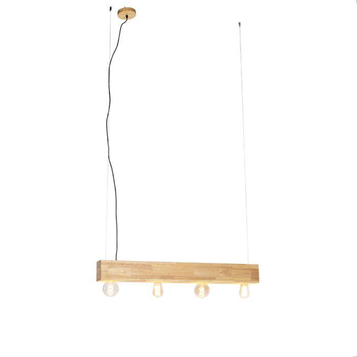 Venkovská-závěsná-lampa-dřevo-4-světlo---Sema