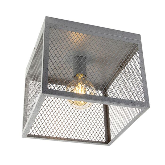 Průmyslové-stropní-svítidlo-starožitné-stříbro---Cage-Robusto