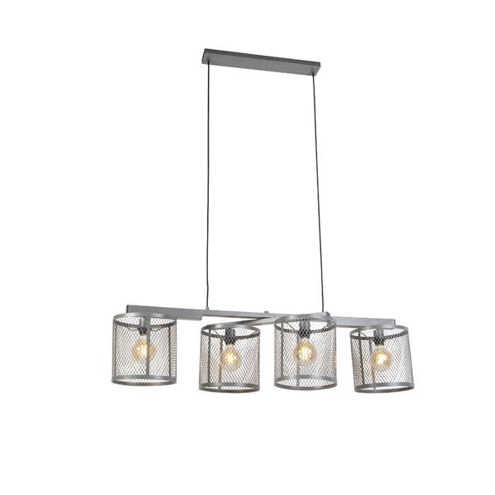 Průmyslová-závěsná-lampa-starožitné-stříbrné-světlo-4---Cage-Robusto